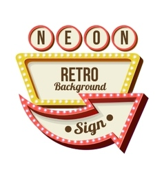 Vintage night 3d advertising sign vector