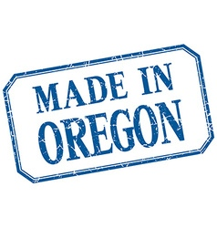 Oregon - made in blue vintage isolated label vector