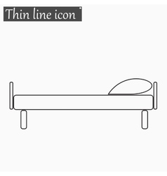 The bed icon style thin line vector