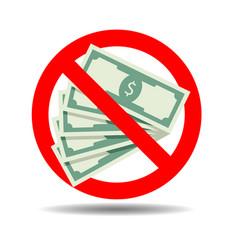ban cash payment vector image
