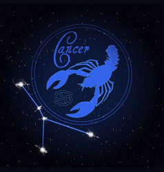 cancer astrology constellation of the zodiac vector image
