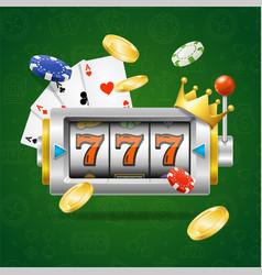 Casino concept slot machine vector
