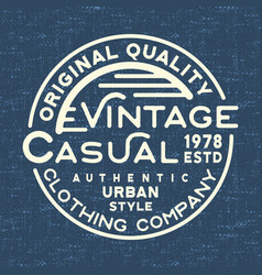 casual vintage stamp for denim t shirt vector image