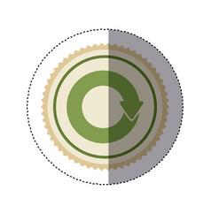 Color circular frame sticker with circular reuse vector