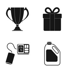 Cup gift and other web icon in black style vector
