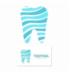 dental clinic logo design template vector image vector image