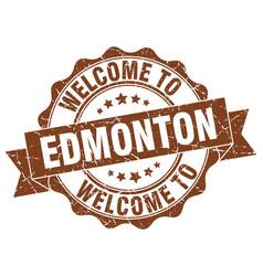 Edmonton round ribbon seal vector