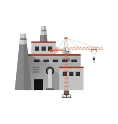factory and industrial tower crane icon vector image