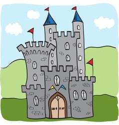 Fairytale castle kingdom cartoon style vector