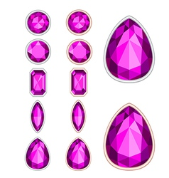 five forms of amethyst vector image