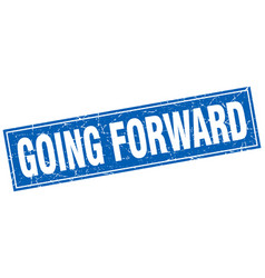 Going forward square stamp vector