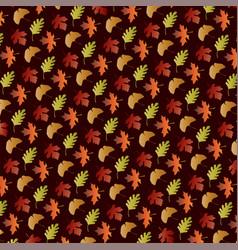gradient leaf pattern on brown vector image vector image