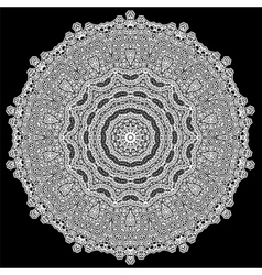 Grey mandala isolated vector