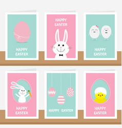 happy easter greeting card set on the shelf vector image vector image