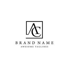 Letter ac square logo vector