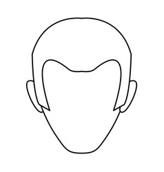male profile faceless vector image vector image