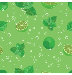 Mojito seamless pattern mojito green mint and lime vector