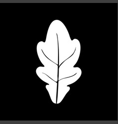 oak leaf white color icon vector image vector image