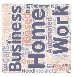 One step system a perfect home business online vector