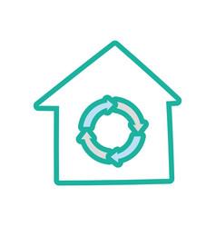 recycle house symbol cartoon vector image