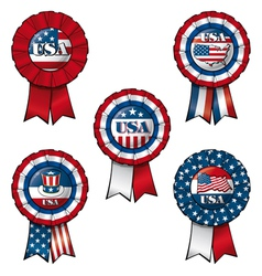 Ribbon USA vector image vector image