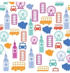 Set pattern icons london city trophy gold award vector