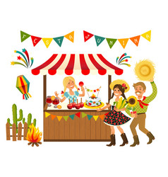Tent festa junina brazilian vector