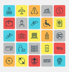 Traveling icons set collection of moving vector
