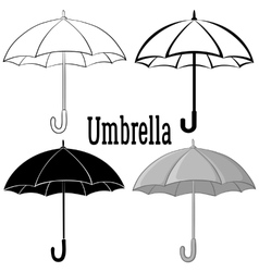 Umbrella Symbol Set vector image vector image