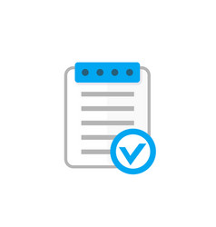 valid document icon flat style vector image vector image