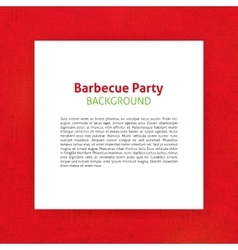 Barbecue party paper template vector