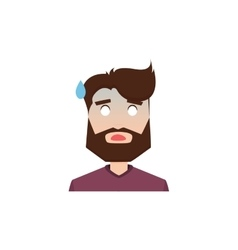 Cute man face vector