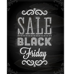 Black friday sale sign vector