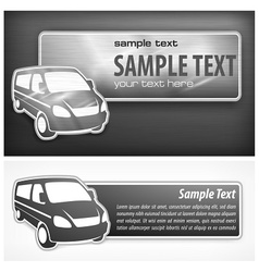 Van promotion banner vector