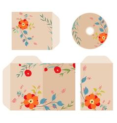 Brand identity florals retro vector
