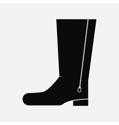 Black boot vector