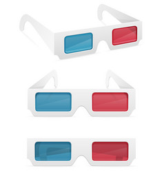 3d paper glasses stock vector image vector image