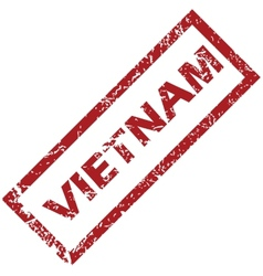 New vietnam rubber stamp vector