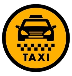Cab yellow icon for taxi drive vector