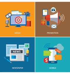 Advertising and promotion flat icon design vector