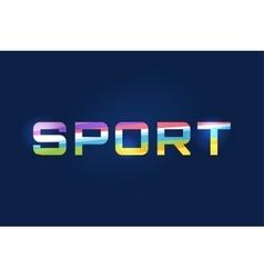 Sport logo text Leader winner football vector image
