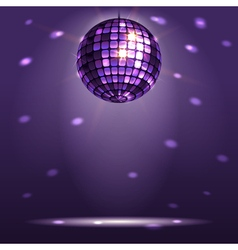 Shiny disco ball vector
