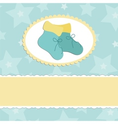 Baby greetings card vector image