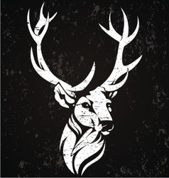 Abstract deer head vector