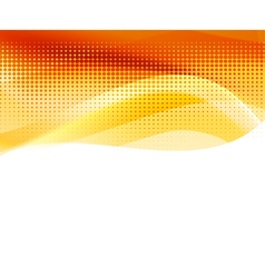 abstract orange halftone background vector image vector image