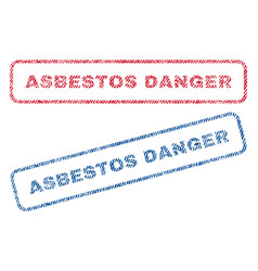 asbestos danger textile stamps vector image vector image
