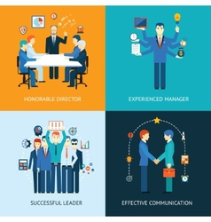 Business team leader banners vector