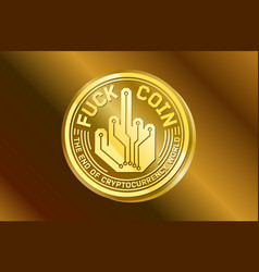 Coin crypto gold currency humor logo vector