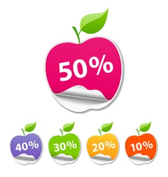 Collections Sticker apple sale price tag vector image