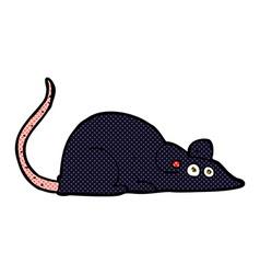 comic cartoon black rat vector image